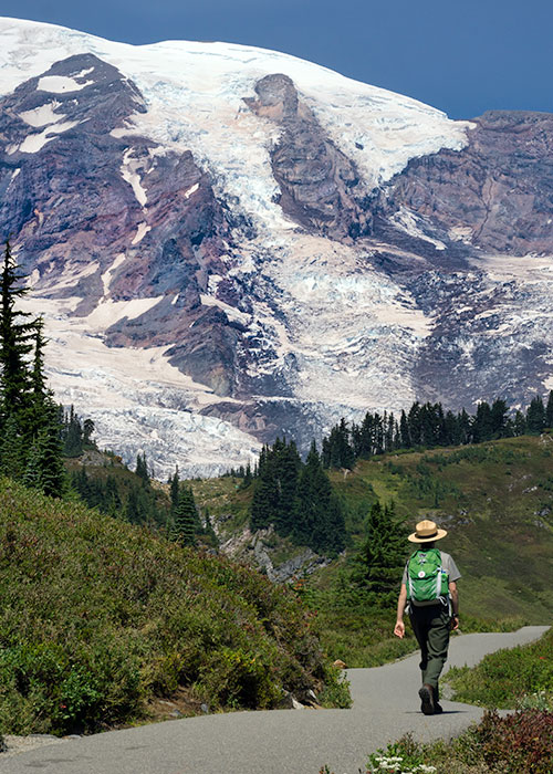 Ranger at Mt. Rainier National Park photo by Terry Divyak