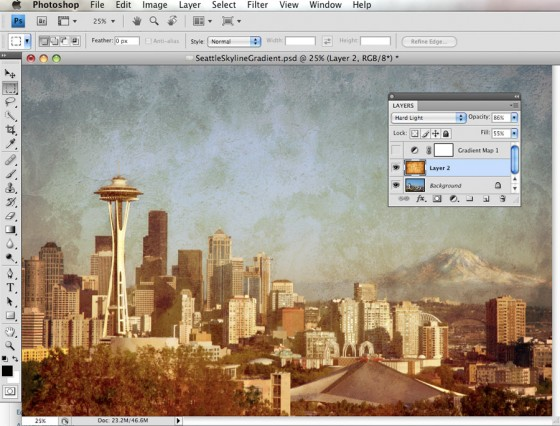 Creating a Textured image in Photoshop.