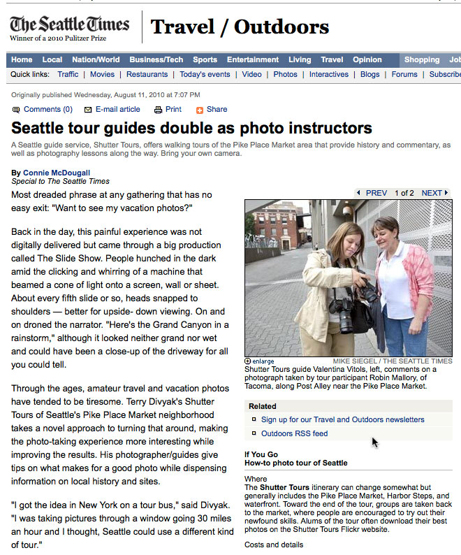 Shutter Tours Seattle Times