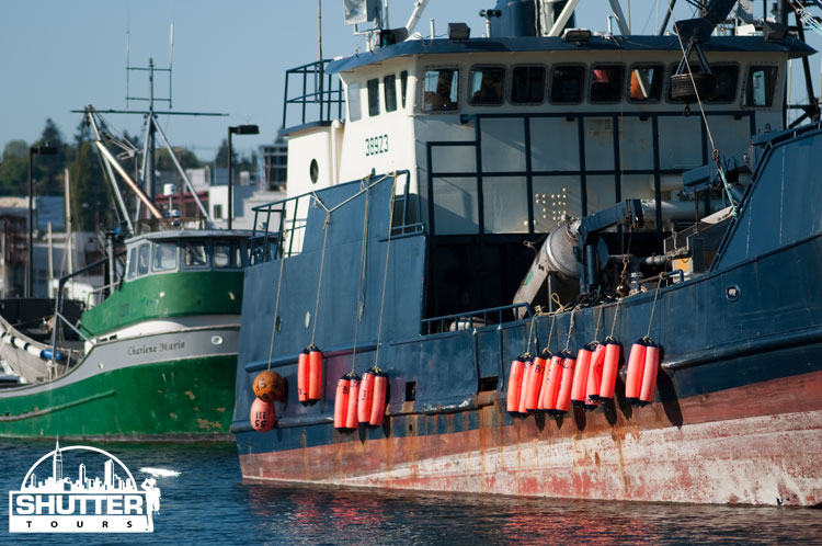 Large fishing boats at Seattle's Fishermen's Terminal
