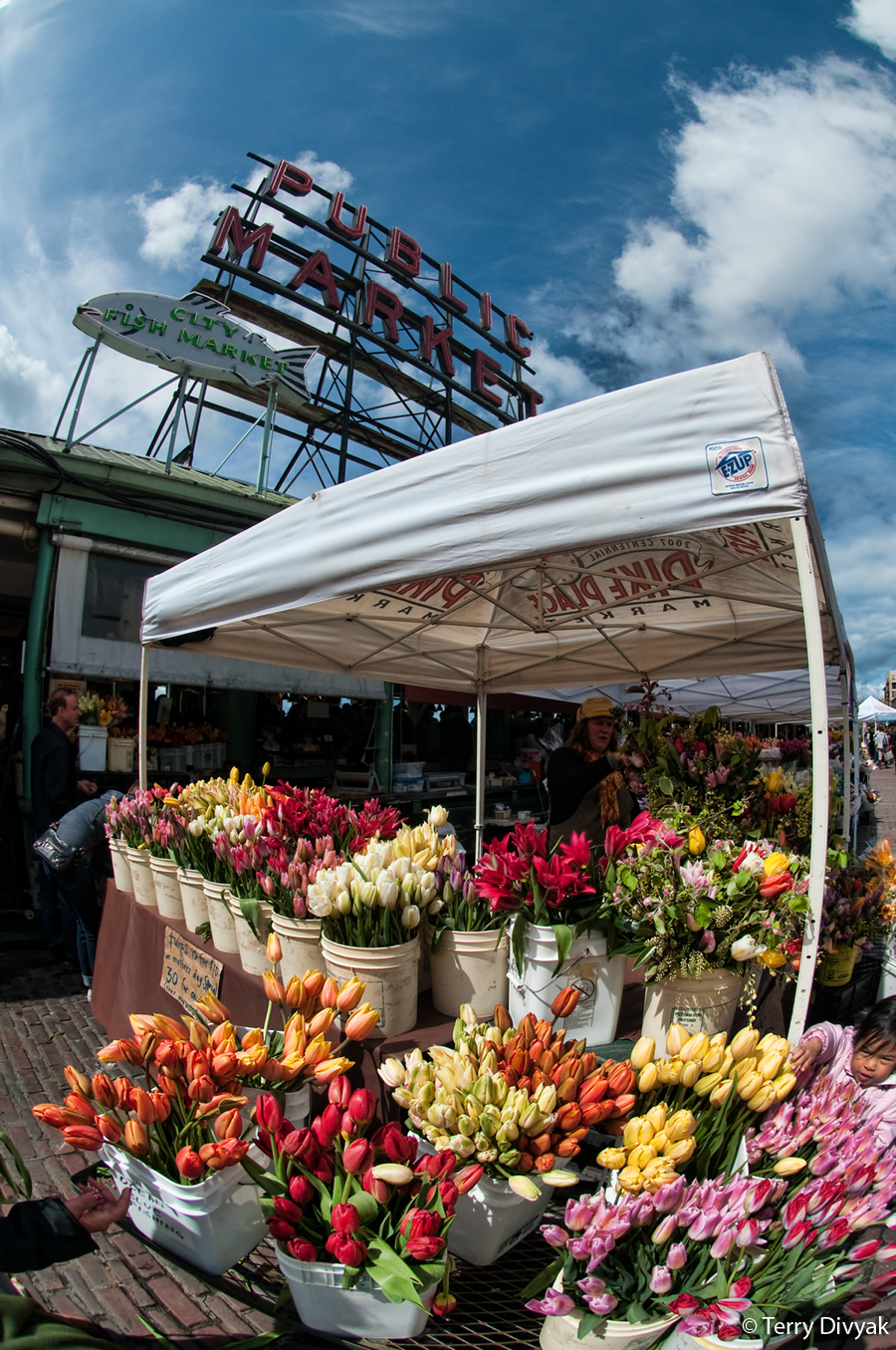 Flowers at the Pike Place Market