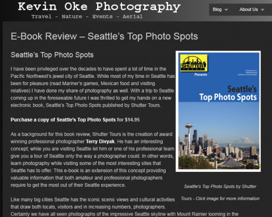 Seattle's Top Photo Spots reviewed by Photographer Kevin Oke
