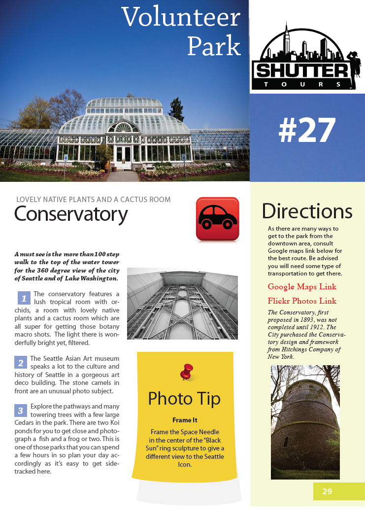 Seattle Top Photo Spots Sample Page