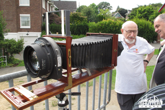 Photographer Ray Meuse and his large format camera