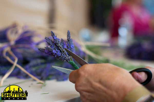 Lavender Wreath Making