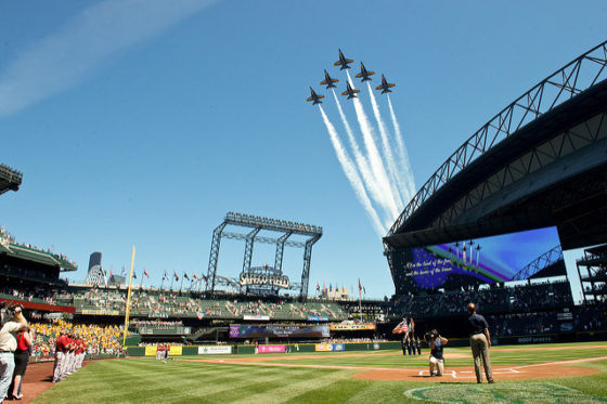 Safeco Field with Blue Angels