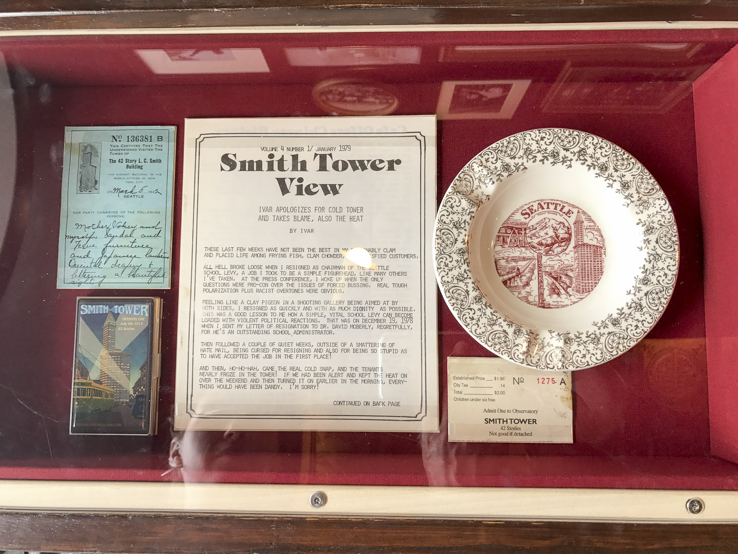 Smith Tower artifacts
