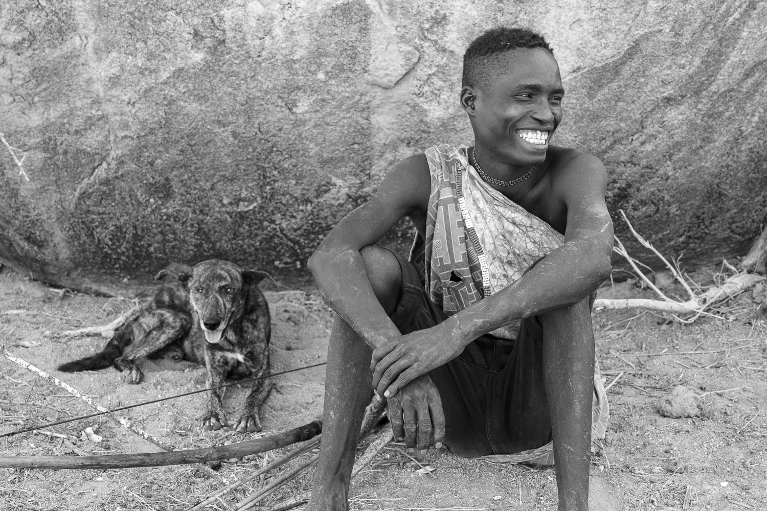 Hadzabe with his Dog
