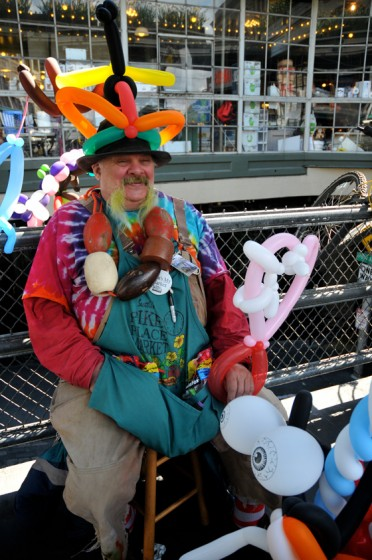 Farrell Thomas aka the Balloon Man Photo by Terry Divyak