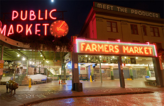 360 Degree View of Pike Place Market