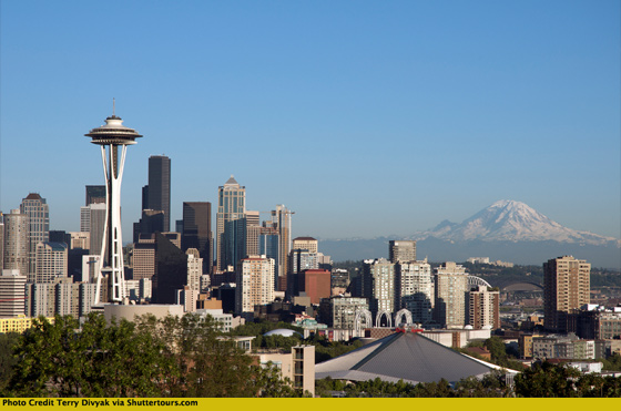 Kerry Park in Seattle by Terry Divyak via Shuttertours.com
