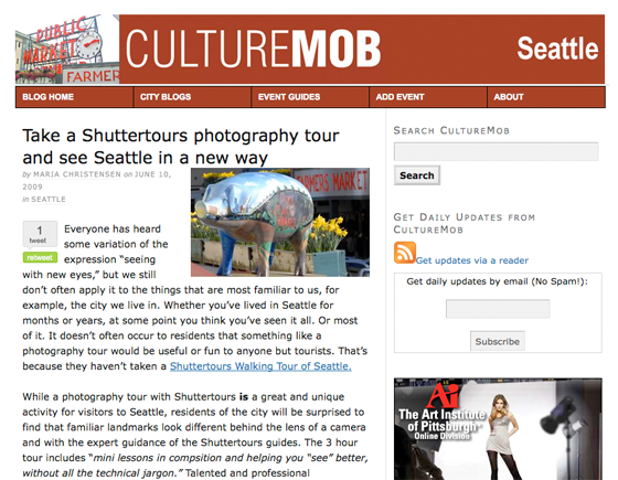 Shutter Tours article on culturemob.com