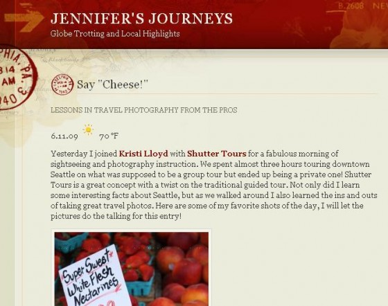 Jennifers Journeys via Shutter Tours