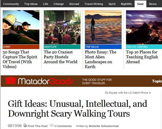 Shutter Tours Article on Matador Goods